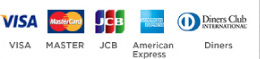 VISA, MASTER, JCB, American Express, Diners